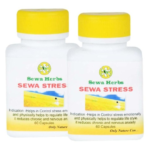Sewa Herbs Stress, 60 capsules - Pack of 2