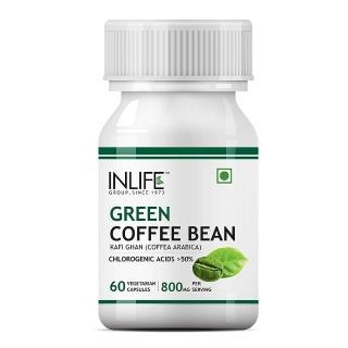 INLIFE Green Coffee Beans (800mg),  60 veggie capsule(s)
