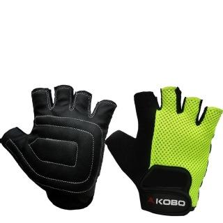 KOBO Ladies Exercise Weight Lifting Gym Gloves (WTG-12),  Green  Large