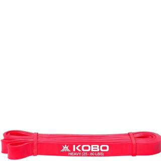 KOBO Power Latex Heavy Exercise Bands (AC-40),  Red  82 Inch