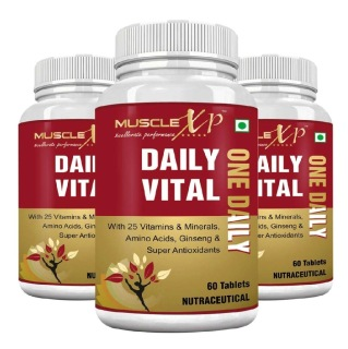 MuscleXP Daily Vital Multi Vitamin,  Unflavoured (Pack of 3)  60 tablet(s)