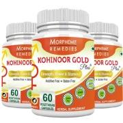 Morpheme Remedies Kohinoor Gold Plus (500 mg) Pack of 3,  60 capsules