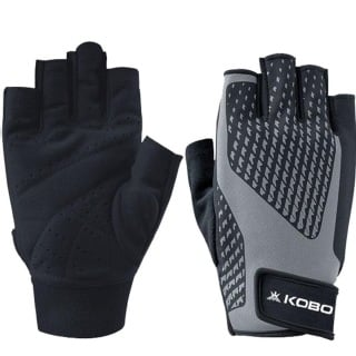 KOBO Gym Gloves (WTG-21),  Grey & Black  Large