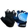 KOBO Gym Gloves (WTG-20),  Blue & Black  Large