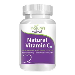 Natures Velvet Vitamin C Natural,  Unflavoured  60 veggie capsule(s)