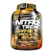 MuscleTech Nitrotech Whey Plus Isolate Gold,  4 lb  Double Rich Chocolate