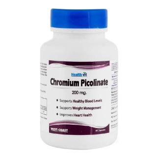 Healthvit Chromium Picolinate 200mcg,  60 capsules