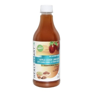 HealthKart Apple Cider Vinegar with Mother,  0.5 L  Cumin, Fennel, Carom Seeds