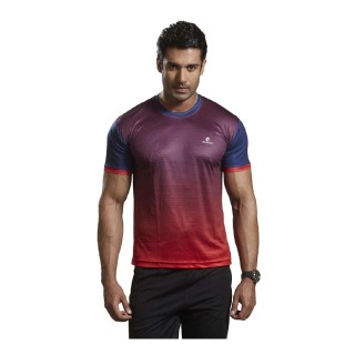 Omtex Active Wear T-Shirts - 1602,  Red  Medium