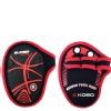 KOBO Weight Lifting Grip Pads (WTA-27),  Black & Red  Free Size