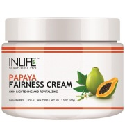 INLIFE Papaya Fairness Cream,  100 g  for All Skin Types