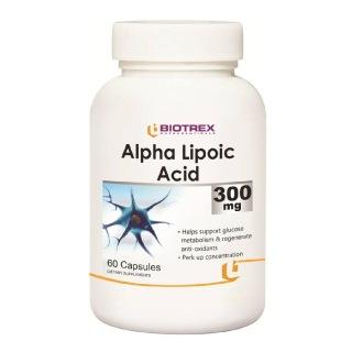 Biotrex Alpha Lipoic Acid (300 mg),  60 capsules