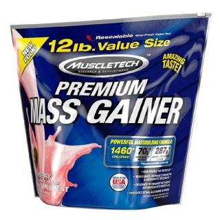 MuscleTech 100 % Premium Mass Gainer,  12 lb  Strawberry