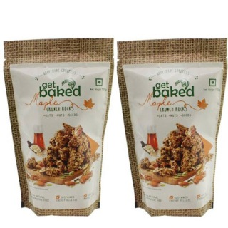 Get Baked Crunch Rocks (Pack of 2),  Maple  0.1 kg