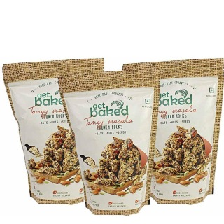 Get Baked Crunch Rocks (Pack of 3),  Tangy Masala  0.2 kg