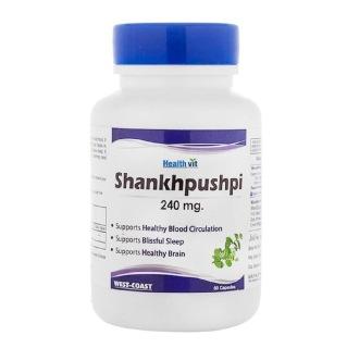 Healthvit Shankhpushpi (240 mg),  60 capsules