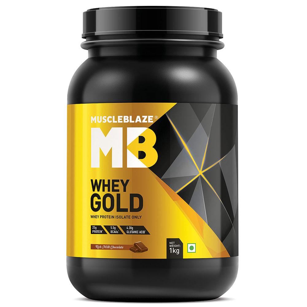 58589f09ff MuscleBlaze Whey Gold, Rich Milk Chocolate, 2.2 lb | India's Best Seller Whey  Protein | HealthKart