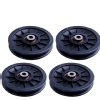 B Fit USA Gym Pulley 4 Inch Set of 4,  Black