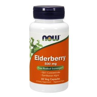 Now Elderberry (500 mg),  60 veggie capsule(s)