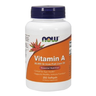Now Vitamin A (Fish Liver Oil),  250 softgels