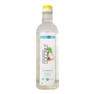 HealthKart Cold Pressed Organic Extra Virgin Coconut Oil,  1 L