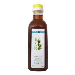 HealthKart Cold Pressed Organic Sesame Oil,  0.5 L