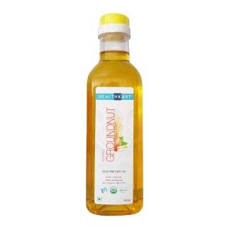 HealthKart Cold Pressed Organic Groundnut Oil,  0.5 L
