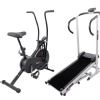Lifeline Air Bike 103 and Manual Treadmill Combo
