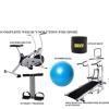 Lifeline Air Bike Deluxe, 4 in 1 Manual Treadmill, Bonus Tummy Trimmer, Sweat Belt and Gym Ball