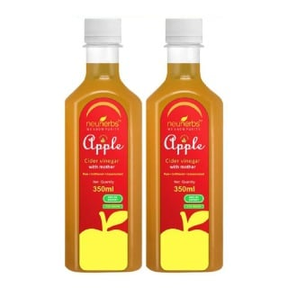 Neuherbs Apple Cider Vinegar with Mother Unfiltered,  0.350 L  Unflavoured - Pack of 2