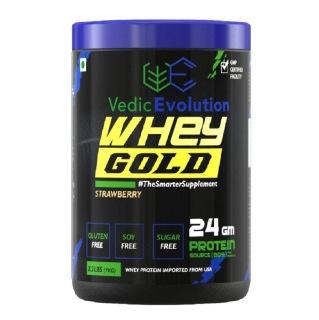 Vedic Evolution Whey Protein Gold,  2.2 lb  Strawberry