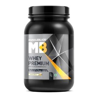 MuscleBlaze Whey Premium,  2.2 lb  Vanilla