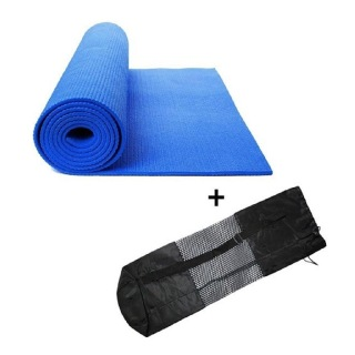 Generic Yoga Mat with Carry Bag,  Blue  6mm