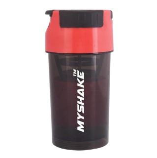 Myshake Cyclone Protein Shaker,  Black & Red  450 ml