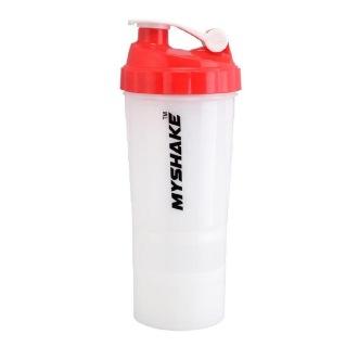 Myshake Spider Protein Shaker,  Red & White  450 ml