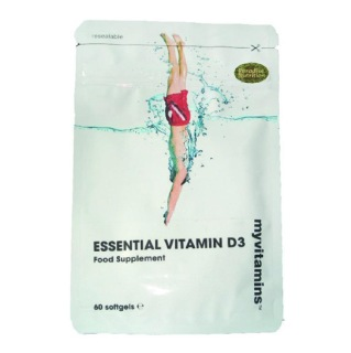 Myvitamins Essential Vitamin D3,  60 softgels