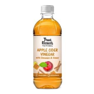 3 - True Elements Apple Cider Vinegar,  0.5 L  Cinnamon & Honey