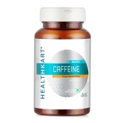 HealthKart Caffeine 200 mg, 90 capsules Unflavoured