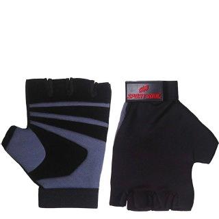 2 - SportSoul Fingerless Cycling & Gym Gloves,  Grey & Black  Xtra Large