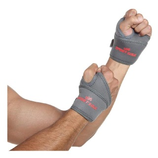 1 - SportSoul Wrist Support with Thumb Wrap Pack of 2,  Grey  Free Size