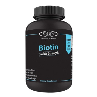 Sinew Nutrition Biotin Double Strength,  100 softgels  Unflavoured