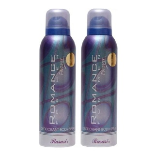 Rasasi Romance Forever Deo Pack of 2,  200 ml  for Men