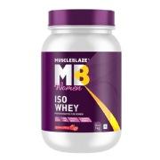 MuscleBlaze Women Iso-Whey, 2.2 lb Strawberry