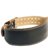 Harbinger Padded 4 inch Leather Belt (284),  Brown  Small