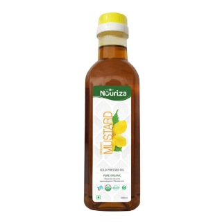 Nouriza Cold Pressed Organic Mustard Oil,  0.5 L