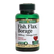 Nature's Bounty Fish Flax Borage,  60 Softgels