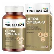 TrueBasics Ultra Omega-3 Fatty Acids (Triple Strength) with 1250mg Fish oil  (EPA 460 mg DHA 380 mg)