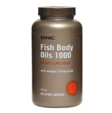 GNC Fish Body Oils (1000 mg),  180 softgels