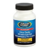 The Vitamin Shoppe One Daily Women's No Iron Multivitamin,  Unflavoured  60 Tablet(s)
