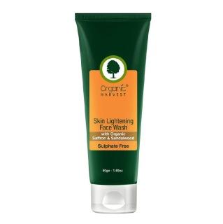 Organic Harvest Skin Lightening Face Wash (Sulphate Free),  50 g  for All Skin Types
